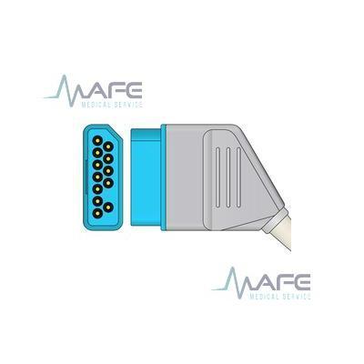CABLE ECG DE UNA PIEZA 3 DERIVACIONES COMPATIBLE CON SPACELABS NIHON KOHDEN. CONECTOR DE 12 PINES HEMBRA (23095)