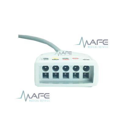 CABLE TRONCAL ECG 5 DERIVACIONES COMPATIBLE CON DATASCOPE, CONECTOR REDONDO 6 PINES 1 GUÍA .BCI 21-0462-51 (ORIGINAL)