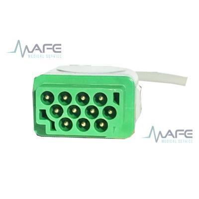 CABLE ECG DE UNA PIEZA 3 DERIVACIONES COMPATIBLE CON GE MARQUETTE. CONECTOR DE 11 PINES HEMBRA.(MC006DA)